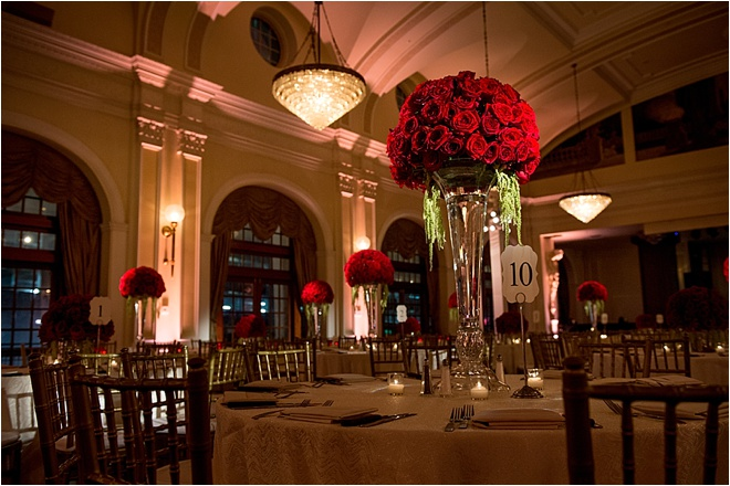 White, Red & Black Wedding at Crystal Ballroom at The Rice