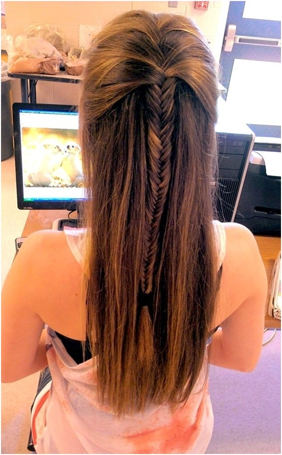 Fishtail Braid for Long Straight Hair