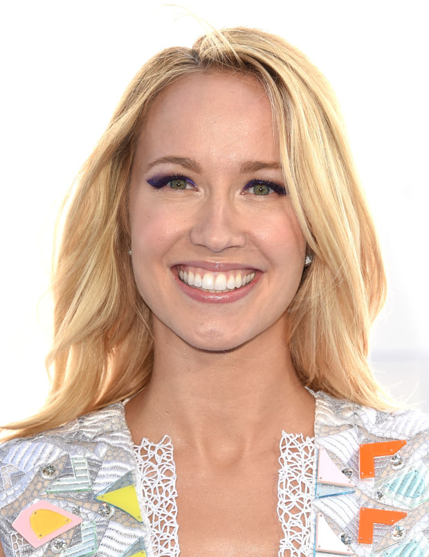 Anna Camp at the 2015 MTV Movie Awards.