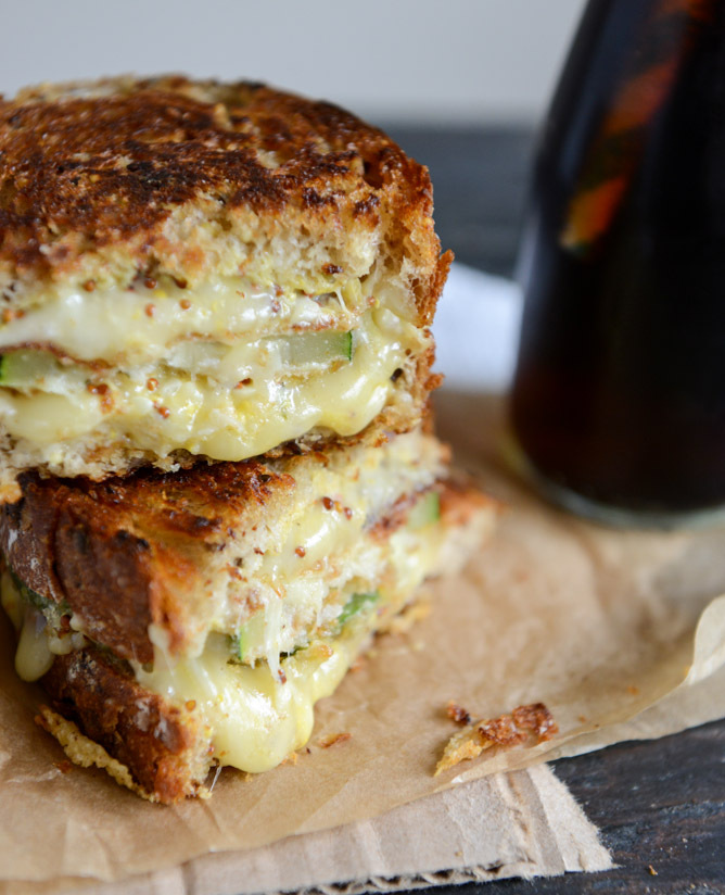 Crispy Zucchini Grilled Cheese