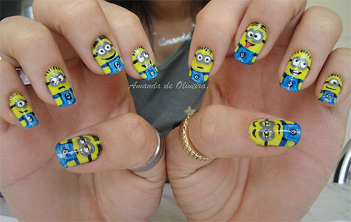 25 Awesome Minion Nail Art Designs Ideas Trends Stickers 2015 22 25+ Awesome Minion Nail Art Designs, Ideas, Trends & Stickers 2015