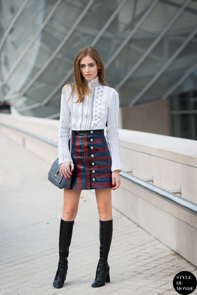 button front skirt and boots