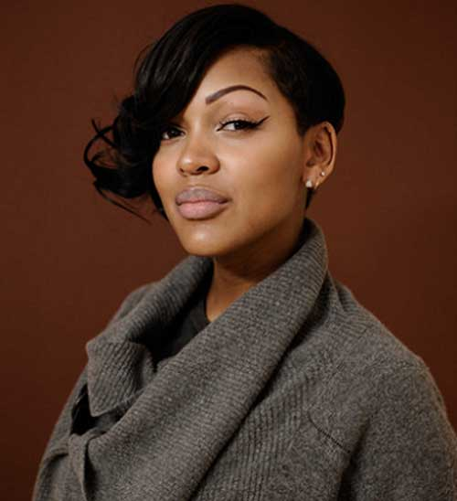 Meagan Good Cute Short Hairstyles for Black Females