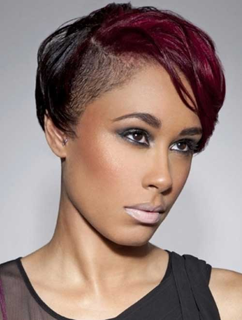 Short Side Undercut Black Hair Style
