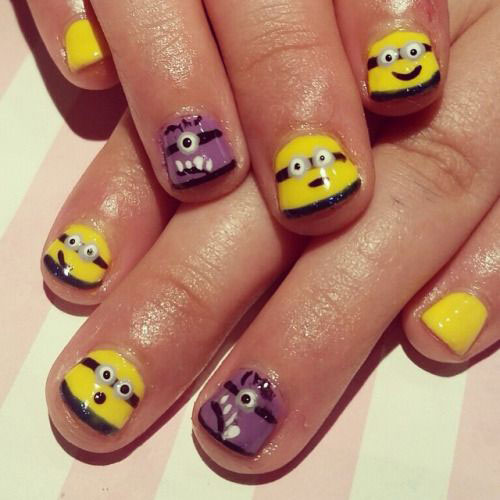 25 Awesome Minion Nail Art Designs Ideas Trends Stickers 2015 2 25+ Awesome Minion Nail Art Designs, Ideas, Trends & Stickers 2015