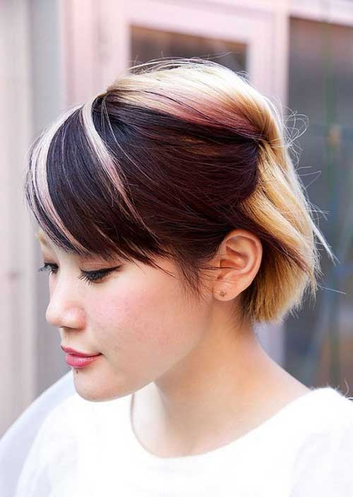 Asian Two Tone Hair Color Short Hairstyles
