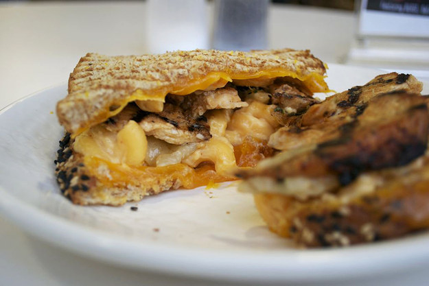 Chicken and Mac 'n' Cheese Panini