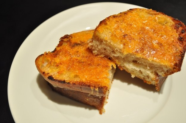 Upside-down Grilled Cheese