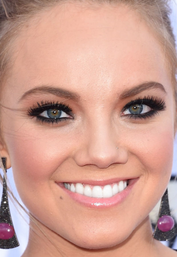 Close-up of Danielle Bradbery at the 2015 ACM Awards.