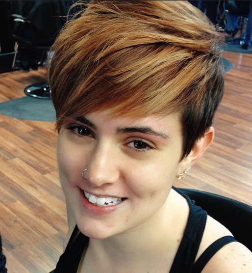 Cute Short Haircut with Side Bangs