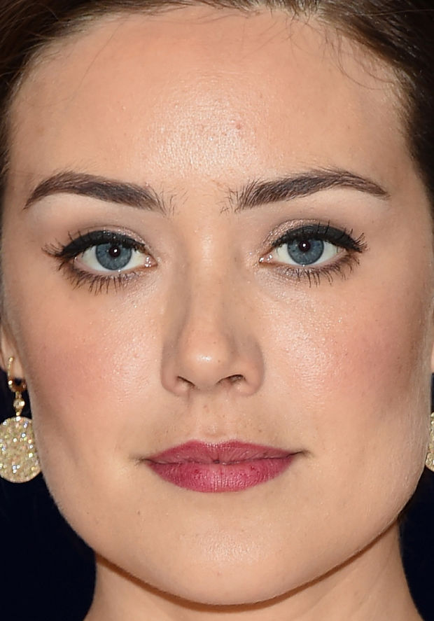 Close-up of Megan Boone at the 2015 White House Correspondents' Dinner.