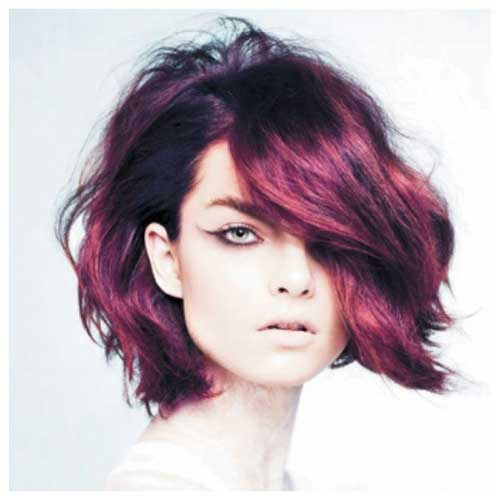 Deep Purple Short Hairstyles 2014-2015