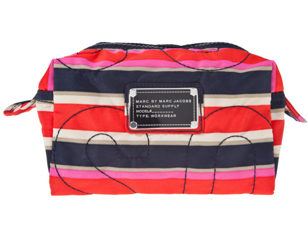 Marc by Marc Jacobs Striped Cosmetics Bag.