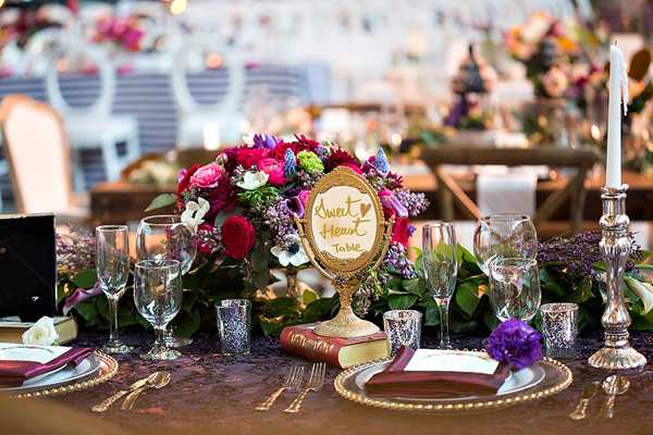 wedding table decor inspiration - photo: You & Me Photography - http://ruffledblog.com/wanderlust-inspired-wedding-in-los-angeles