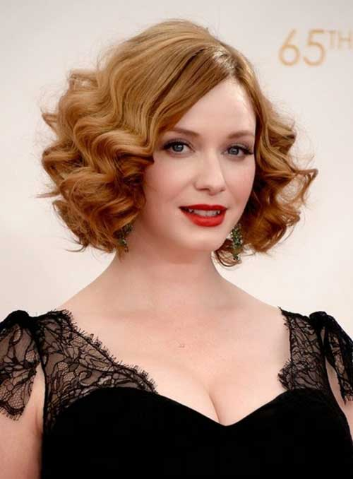 Christina Hendricks Curly Hair