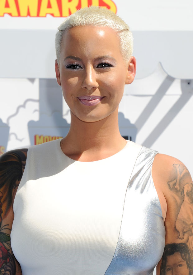 Amber Rose at the 2015 MTV Movie Awards.