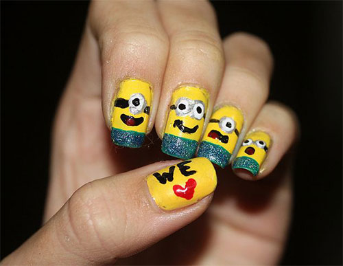 25 Awesome Minion Nail Art Designs Ideas Trends Stickers 2015 16 25+ Awesome Minion Nail Art Designs, Ideas, Trends & Stickers 2015