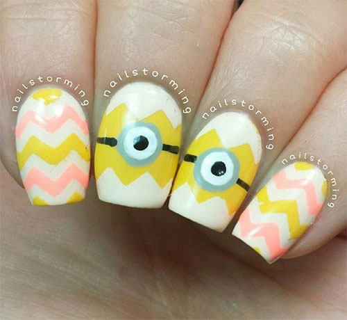 25 Awesome Minion Nail Art Designs Ideas Trends Stickers 2015 17 25+ Awesome Minion Nail Art Designs, Ideas, Trends & Stickers 2015