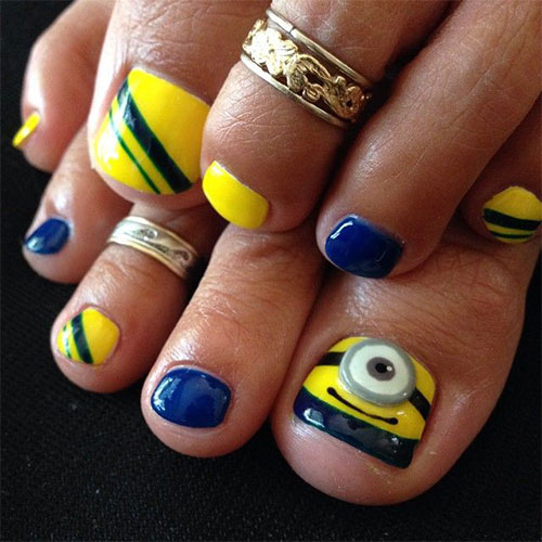 Minion Toe Nail Art Designs Ideas Trends Stickers 2015 4 Minion Toe Nail Art Designs, Ideas, Trends & Stickers 2015