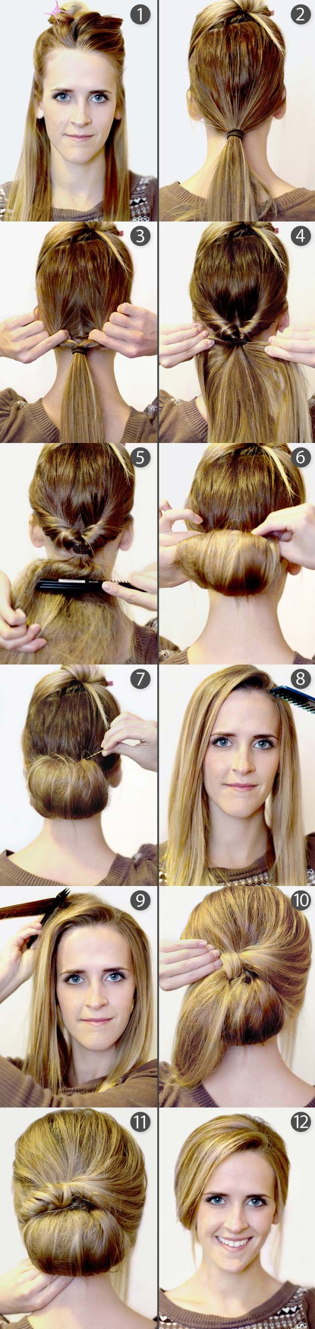 Vintage Updo Hairstyle Tutorial