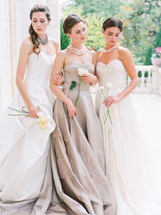 Classic wedding dresses | Lisa O'Dwyer and Prema | see more on: http://burnettsboards.com/2015/04/sargents-bride/