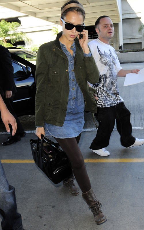 tunic and leggings jessica alba