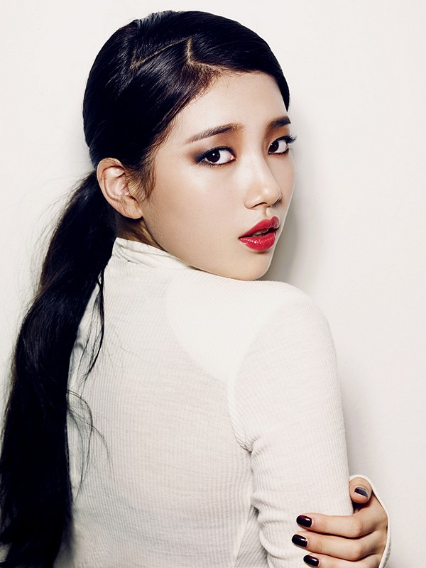 Bae Suzy Miss A Ponytail Hairstyles with Black Hair Color