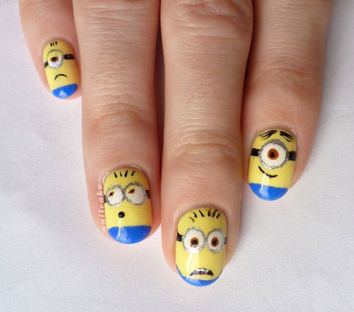 25 Awesome Minion Nail Art Designs Ideas Trends Stickers 2015 3 25+ Awesome Minion Nail Art Designs, Ideas, Trends & Stickers 2015
