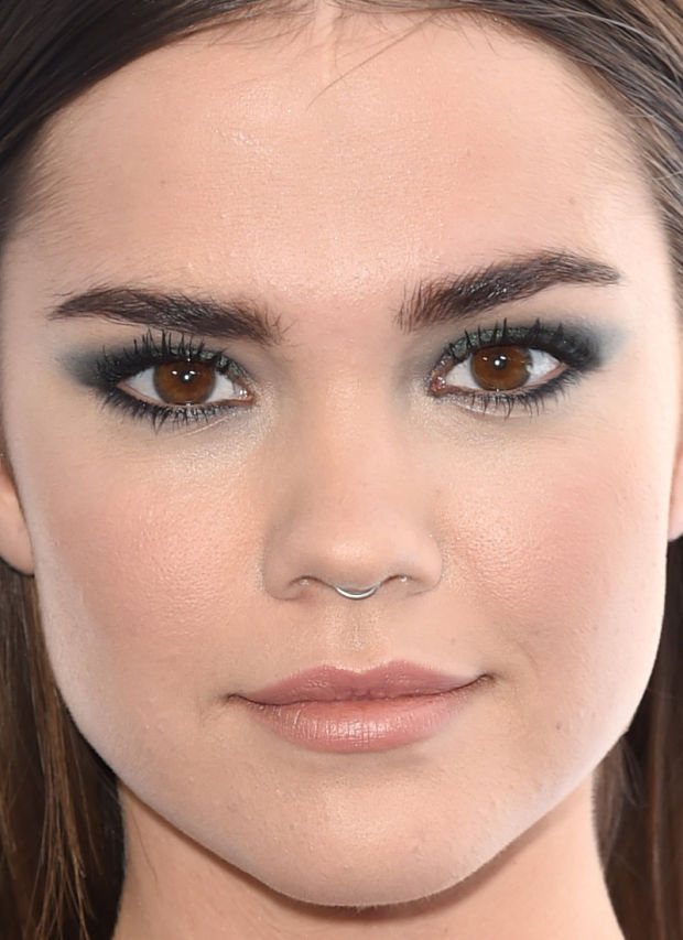 Close-up of Maia Mitchell at the 2015 MTV Movie Awards.