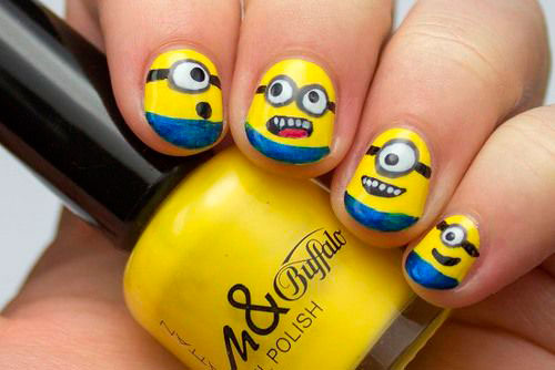 25 Awesome Minion Nail Art Designs Ideas Trends Stickers 2015 8 25+ Awesome Minion Nail Art Designs, Ideas, Trends & Stickers 2015
