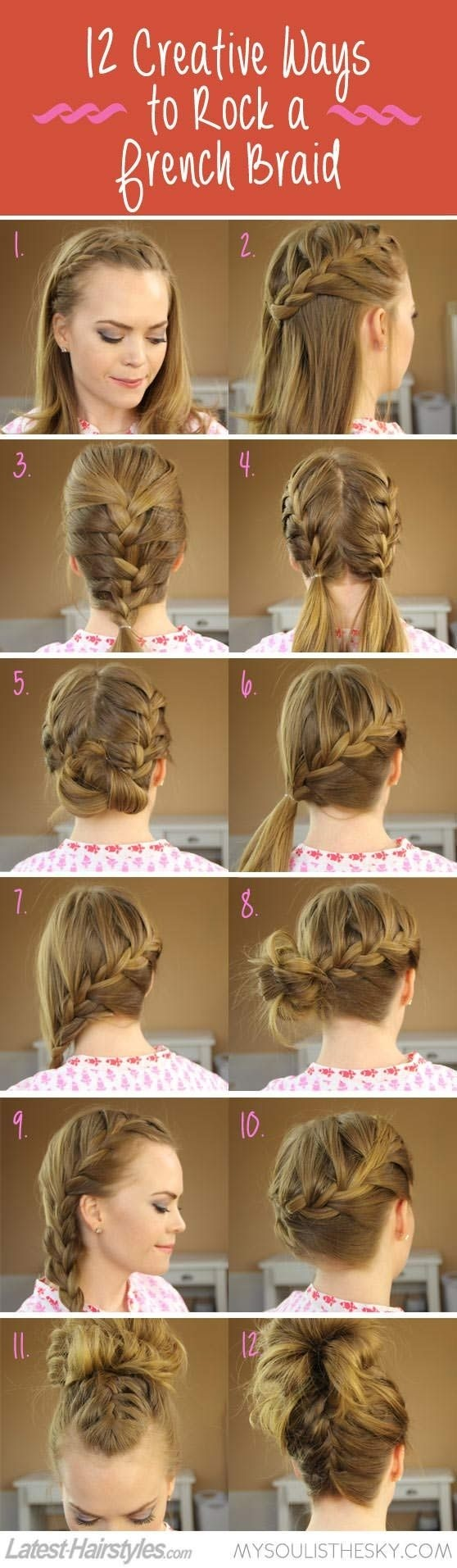 Creative French Braided Hairstyles Ideas