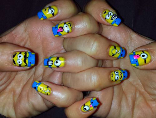 25 Awesome Minion Nail Art Designs Ideas Trends Stickers 2015 23 25+ Awesome Minion Nail Art Designs, Ideas, Trends & Stickers 2015