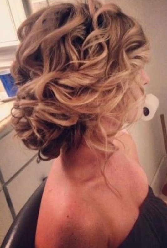 Messy Updo for Wedding Hairstyles