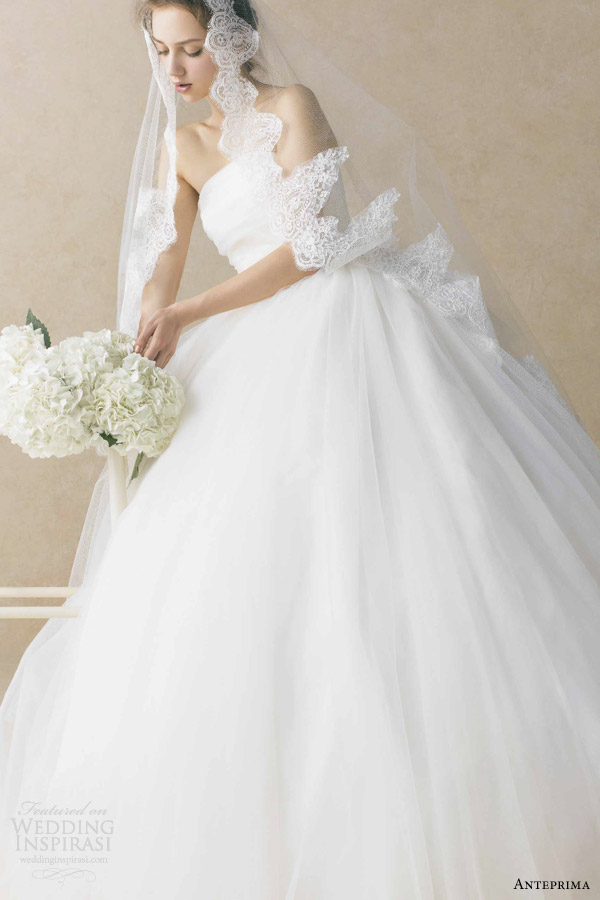 anteprima bridal strapless ball gown wedding dress off white ant0069