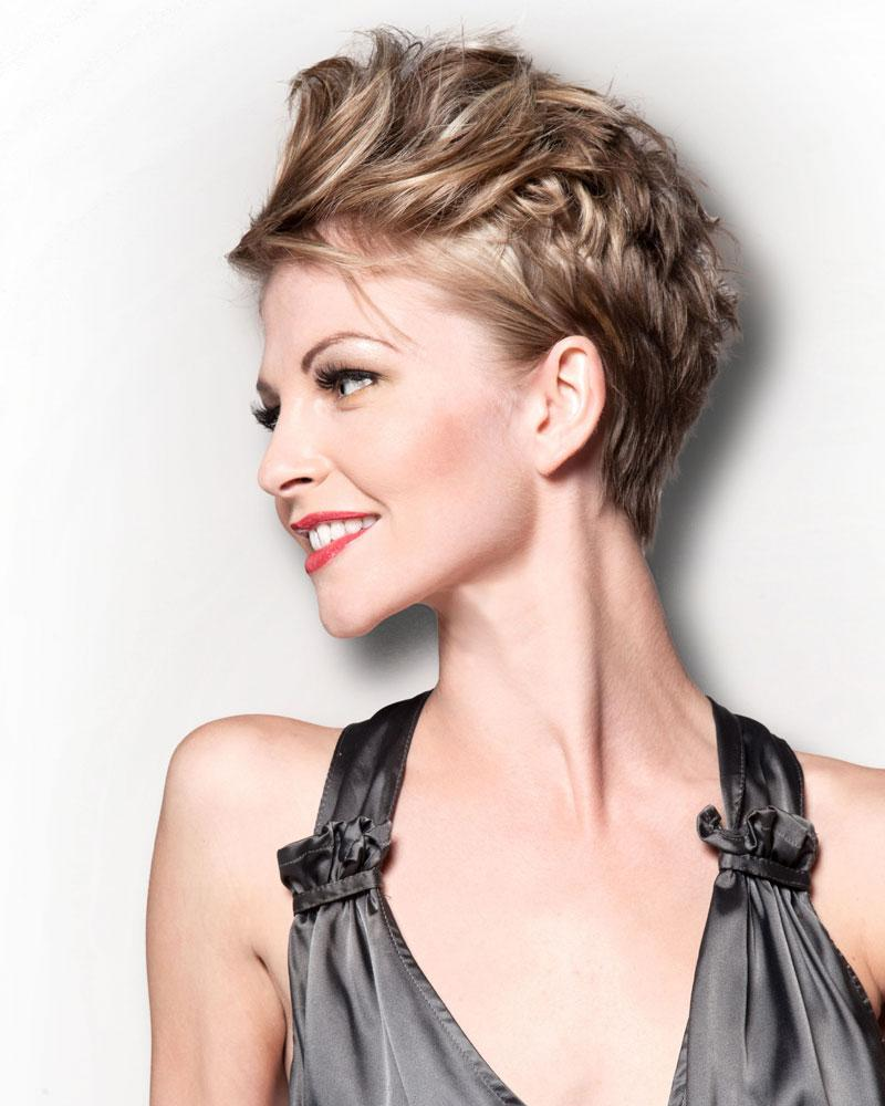 Short Pixie Cut For Fashionable Older Ladies