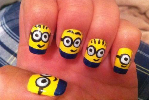 25 Awesome Minion Nail Art Designs Ideas Trends Stickers 2015 10 25+ Awesome Minion Nail Art Designs, Ideas, Trends & Stickers 2015