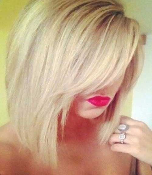 Blonde Long Bob Long Bangs