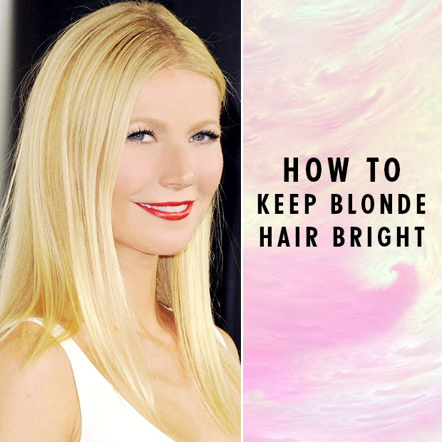 How to Keep Blonde Hair Bright Gwyneth Paltrow