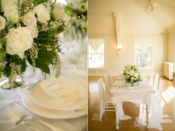 white and green wedding - photo by Kelly Lemon Photography http://ruffledblog.com/monochrome-spring-wedding-editorial