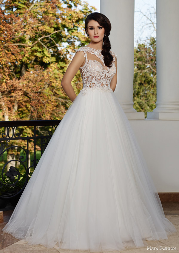 maya bridal 2015 royal wedding dress collection voluminous a line ball gown m49 lace bodice
