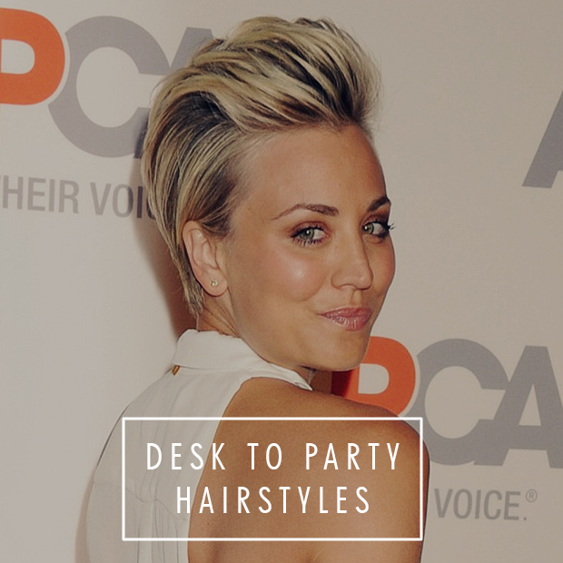 desk to party hair styles