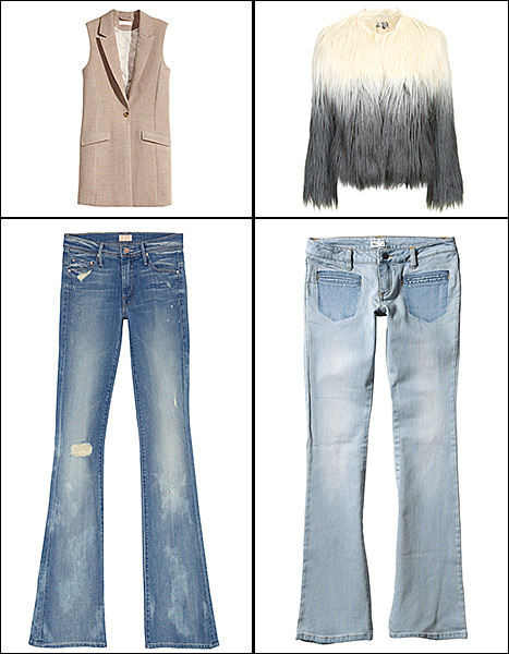 Flared denim is a huge fashion trend for Spring 2015. Check out the look worn by Chrissy Teigen, January Jones, and Amy Adams.
