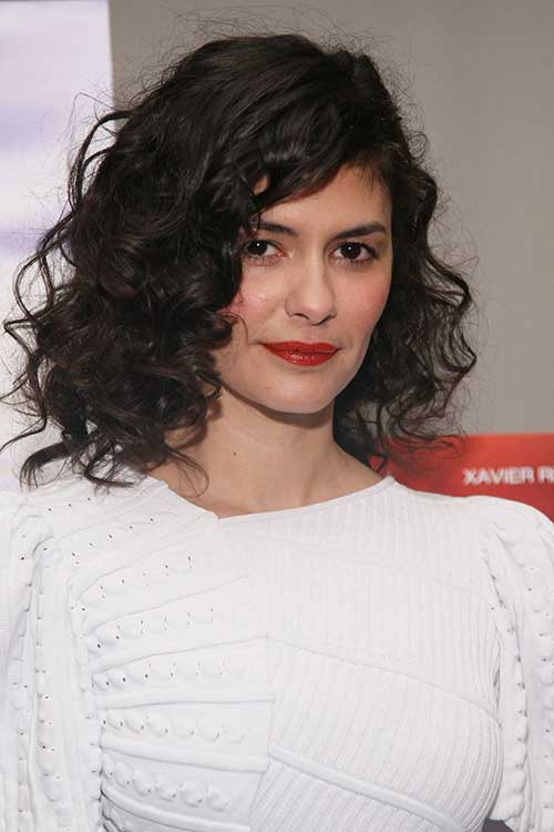 Audrey Tautou Bob Cuts for Curly Hair