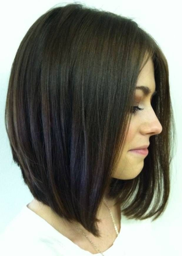 Inverted Long Bob Haircut for Black Hair