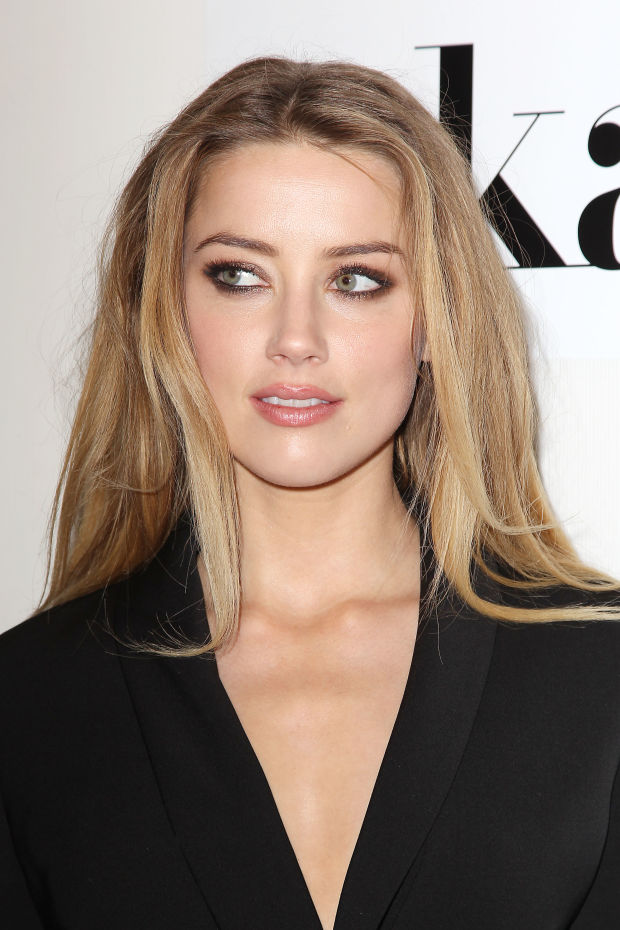 Amber Heard's dramatic evening eyes.