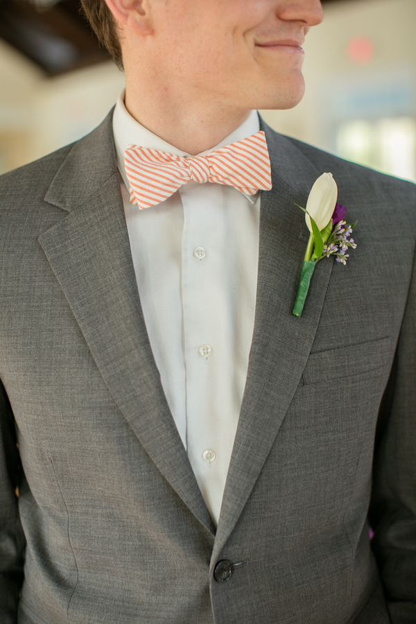 Whimsical Bow Tie Orange White Stripes