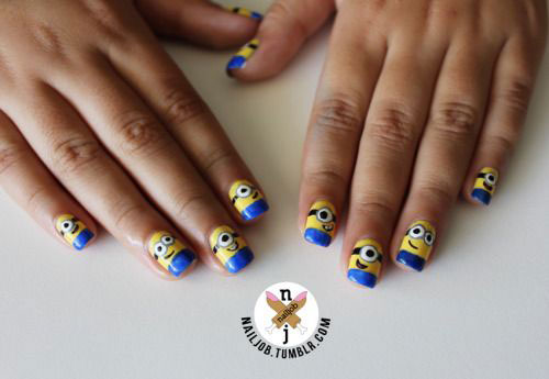 25 Awesome Minion Nail Art Designs Ideas Trends Stickers 2015 1 25+ Awesome Minion Nail Art Designs, Ideas, Trends & Stickers 2015