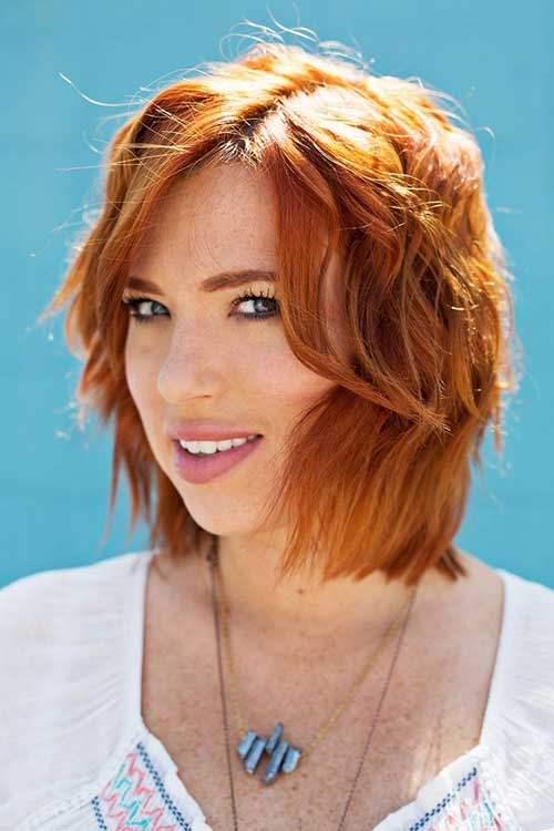 Ginger Bob Beachy Waves