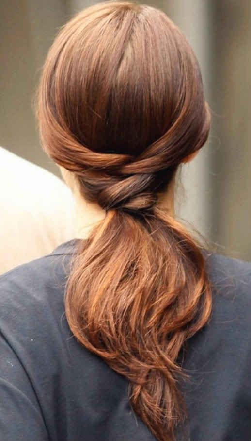faux braided ponytail