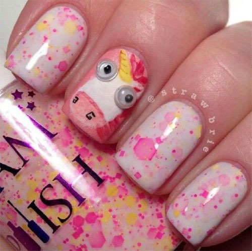 Cute Pink Minion Nail Art Designs Ideas Trends Stickers 2015 4 Cute Pink Minion Nail Art Designs, Ideas, Trends & Stickers 2015